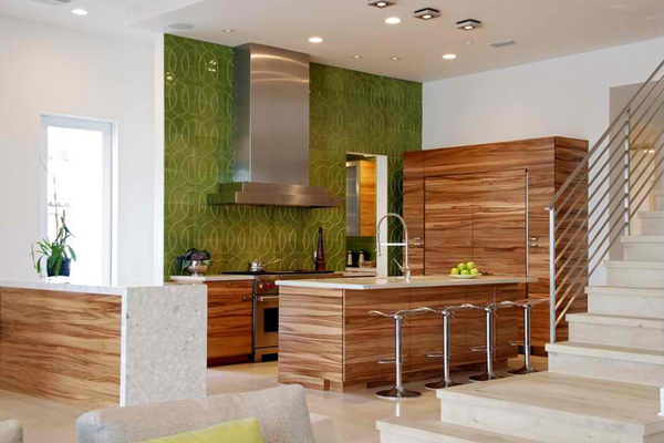 textured backsplash tile