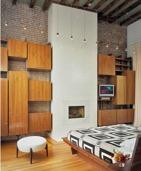 modern bedroom fireplace designs