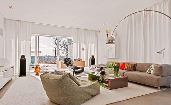 White Modern home