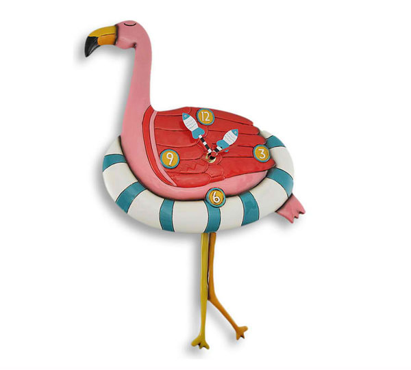 Flamingo Floaty Pendulum Wall Clock