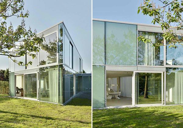 glass cube exterior