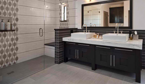 bathrooms with black cabinets black cabinet designs in 15 bathroom spaces home design 11898