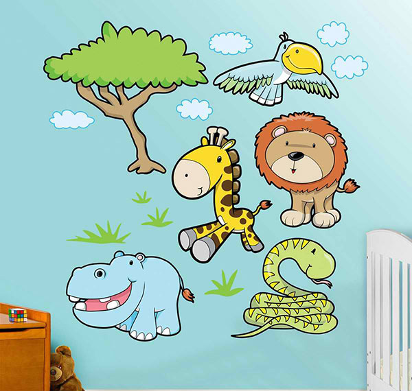 Jungle Animals 3 Wall Decal
