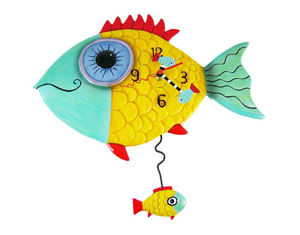 Wide Eyed Fishy Pendulum Wall Clock Fish