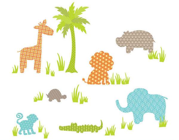 Jungle Friends Wall Art Decal Kit