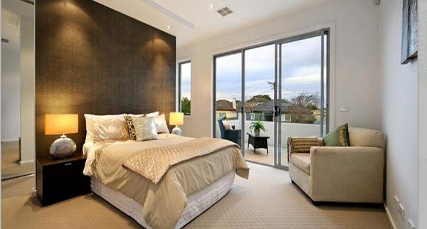 Modern Bedroom with Carpet & Bi-fold Windows