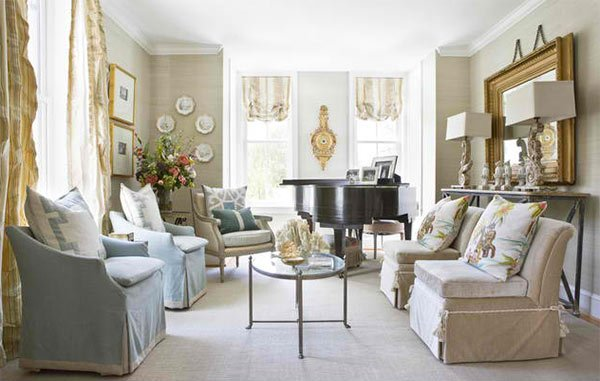extraordinary living room piano idea | 15 Grand Piano Set-ups in Traditional Living Rooms | Home ...