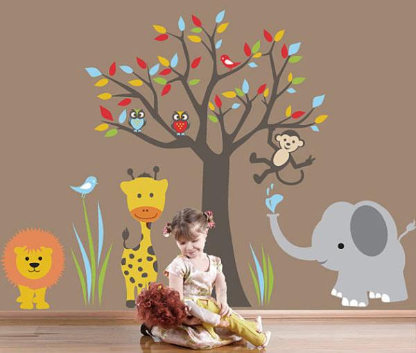 Kids Wall Decal Jungle Wall Sticker - 6