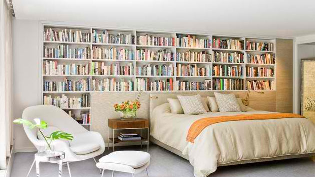 15 Ideas In Designing A Bedroom With Bookshelves