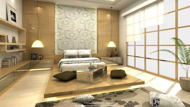 Embrace Culture with these 15 Lovely Japanese Bedroom Designs | Home Design Lover : japanese-room - designwebi.com