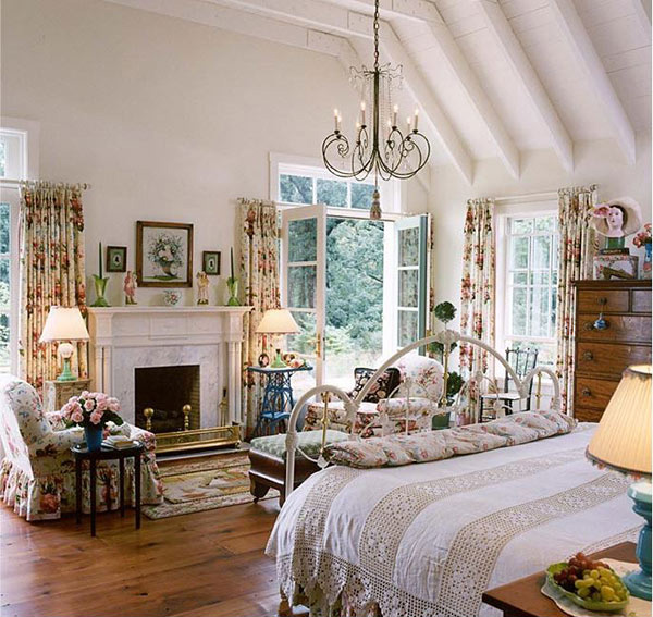 15 Traditional Bedrooms With Fireplaces | Home Design Lover