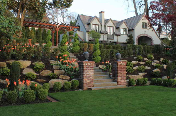 Tips On How To Landscape On A Hill Home Design Lover