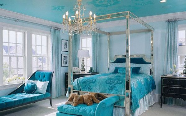 Pretty Combo of Turquoise and Black in 15 Bedroom Interiors ...