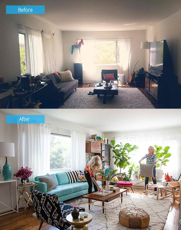 15 Impressive Before and After Photos of Living Room Remodels ...