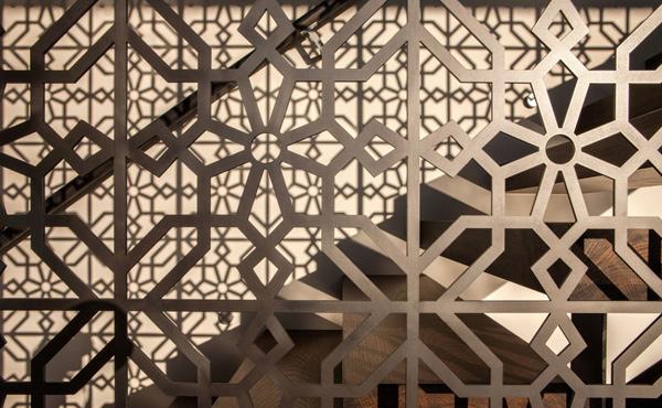 patterned stair railings