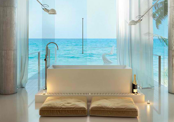 fascinating bathroom ocean view | Stylish Modern Bathrooms from MOMA Design | Home Design Lover