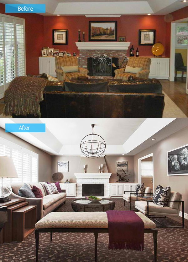 15 Impressive Before And After Photos Of Living Room Remodels Home Design Lover