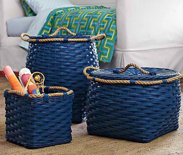 Rope Bin Collection - Cobalt