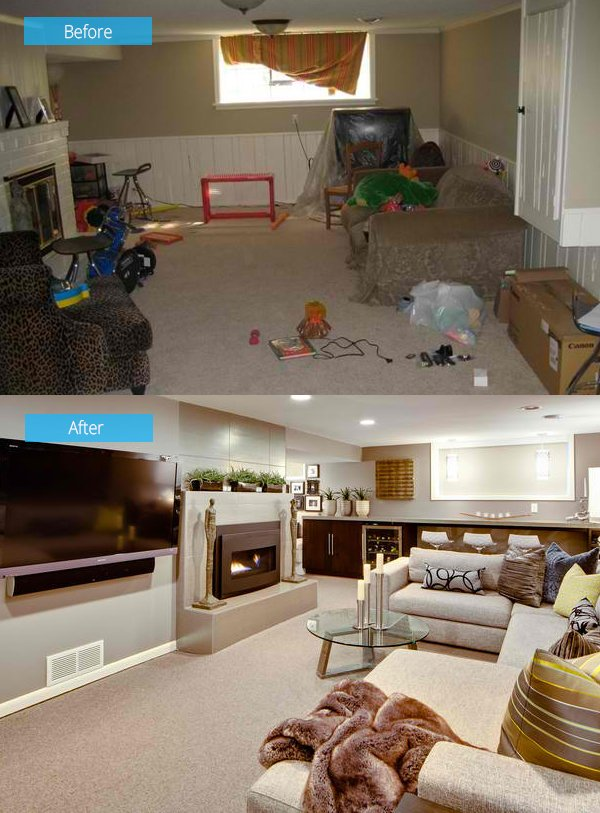 15 Impressive Before and After Photos of Living Room Remodels | Home ...