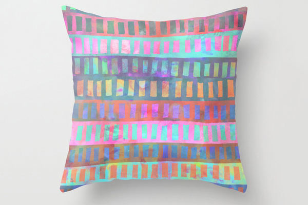 Geometric Stripe (Pastel) Pillow 16x16 cover
