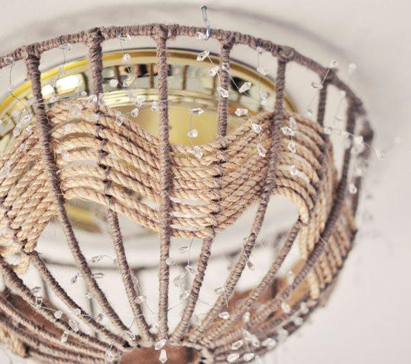 DIY Rope Pendant Lamp