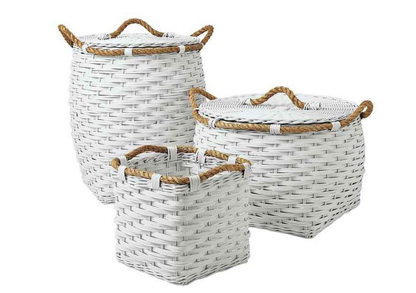 Rope Bin Collection - White