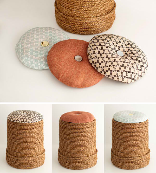 Create beautiful diy ottomans in 15 easy ways home design lover ottoman home depot bucket solutioingenieria Images
