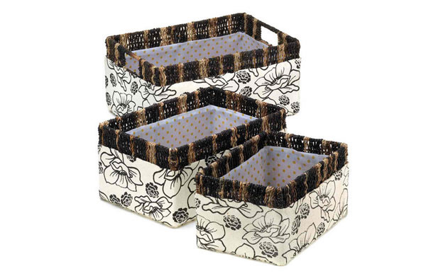Floral Woven Nesting Baskets