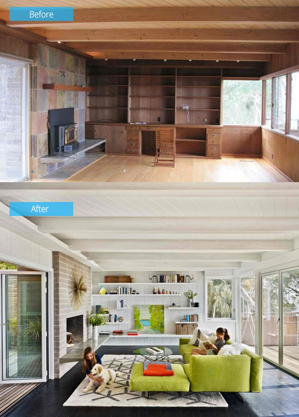 15 Impressive Before and After Photos of Living Room Remodels Home