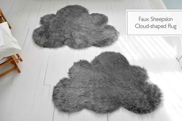 Faux Sheepskin Cloud-Shaped Rug