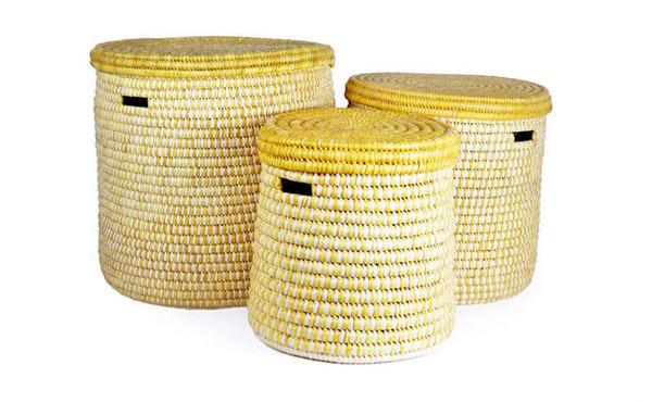 Set of Three Turkana Nesting Hampers