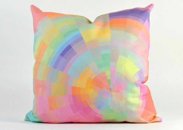 Kaleidescope Modern Graphic Pillow