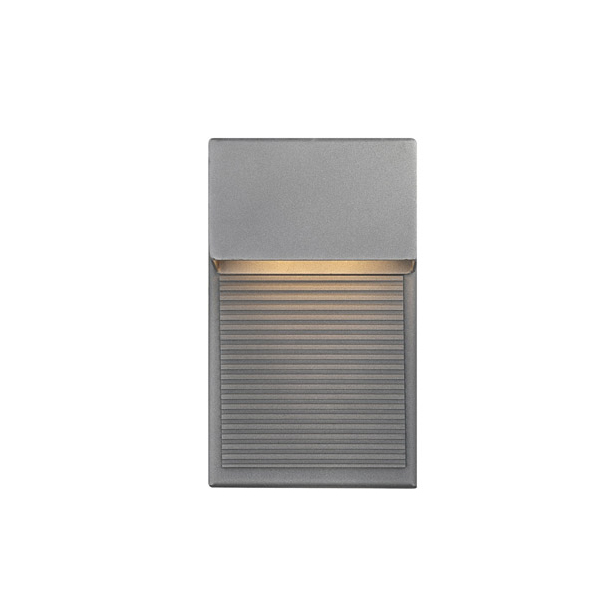 Hiline 2 Light LED Outdoor Wall Mount In Graphite