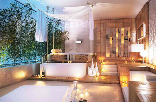 bathroom romantic lightings