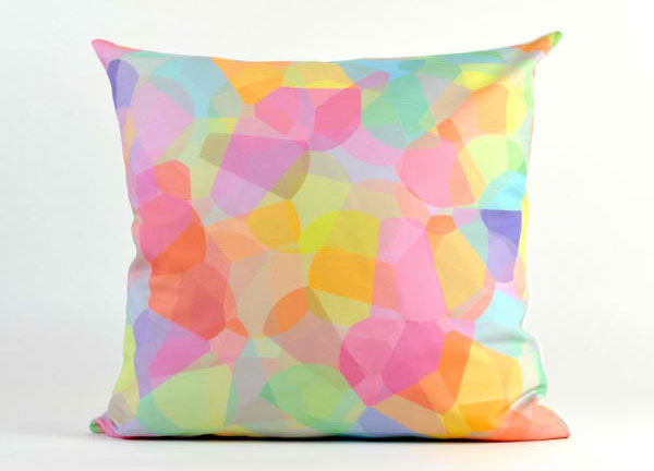Candy Corn Modern Pillow