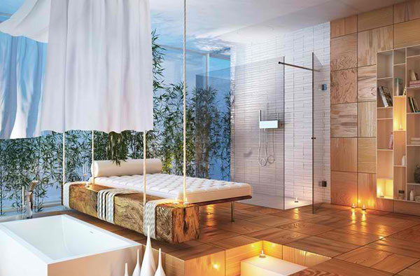 romantic modern bathroom
