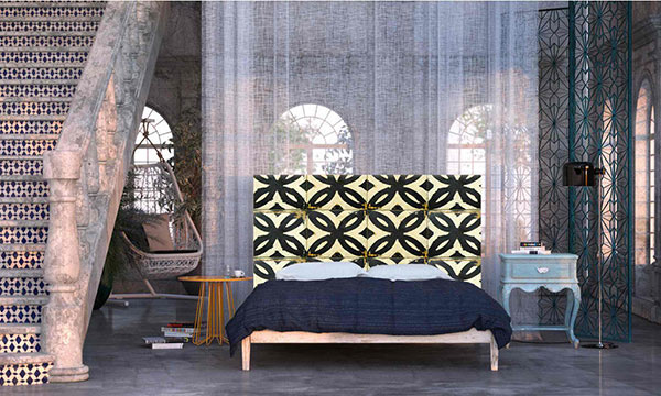Black & White Tiles Headboard
