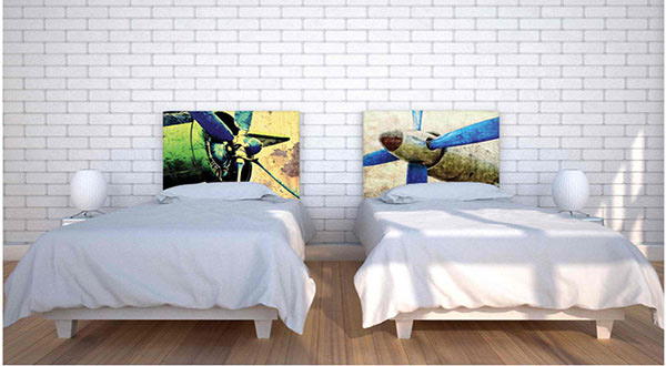 Green Propeller Headboard