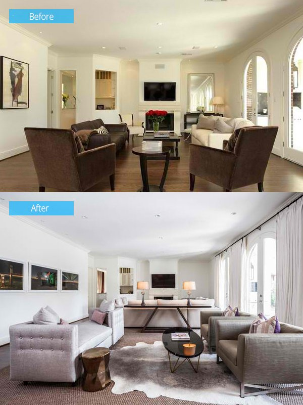 15 impressive before and after photos of living room - Living room renovation before and after ...
