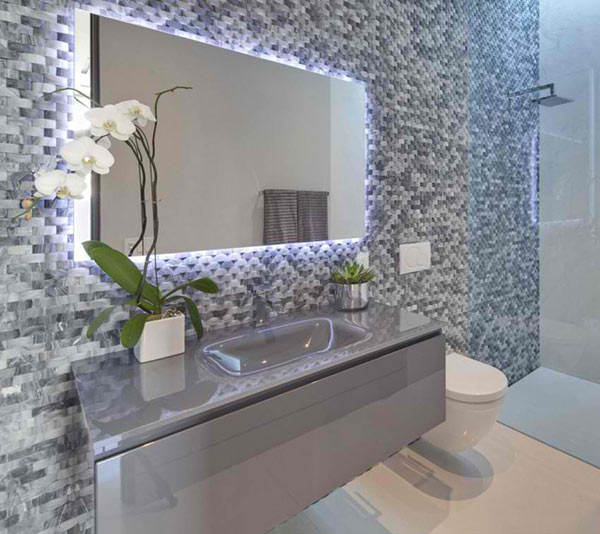 bathroom mosaic design