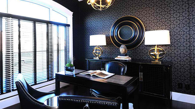 Stunning Wallpapers In 20 Home Office And Study Spaces Home Design Lover