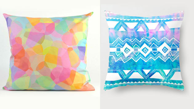 20 Soothing Geometric Pastel Modern Throw Pillows Home Design Lover