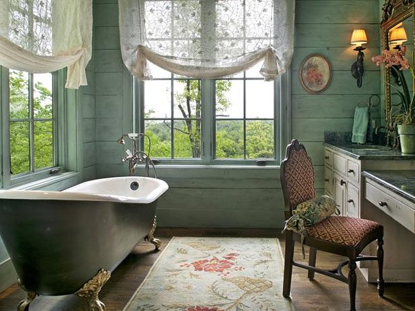 embroidered sheer fabric window
