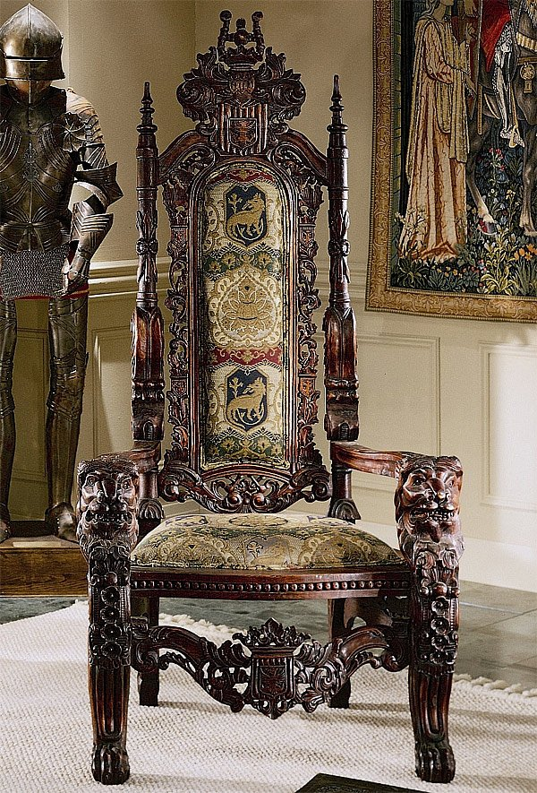 hand carved design throne