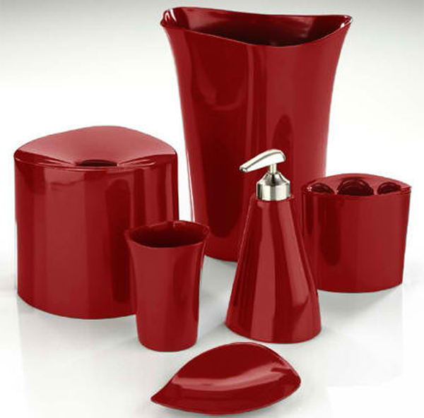 20 Fascinating Red Bathroom Accessories | Home Design Lover