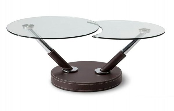 Swiveling Glass Coffee Table