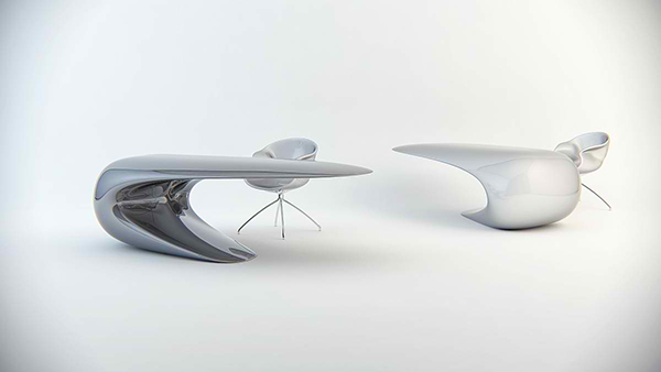 Ultra Modern Desk nebbessa table: an ultra-modern sleek desk design | home  design