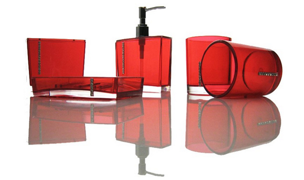 Ordinaire Red And Black Bathroom Accessories. Email; Save Photo. Black