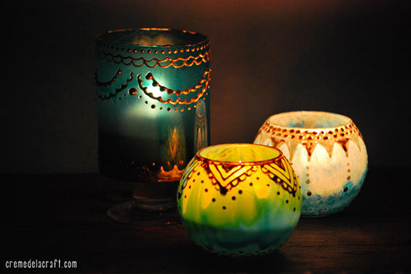 DIY Moroccan Candle Holders