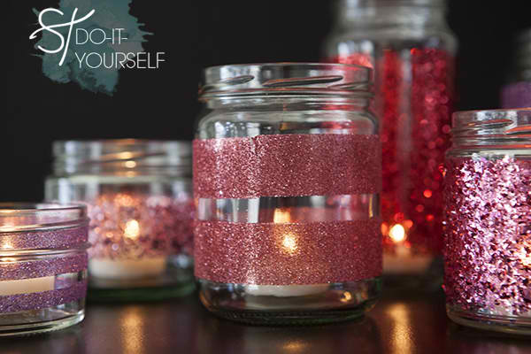 Martha Stewart Glittered Glass Jars